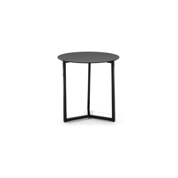Czarny stolik La Forma Marae, ⌀50cm
