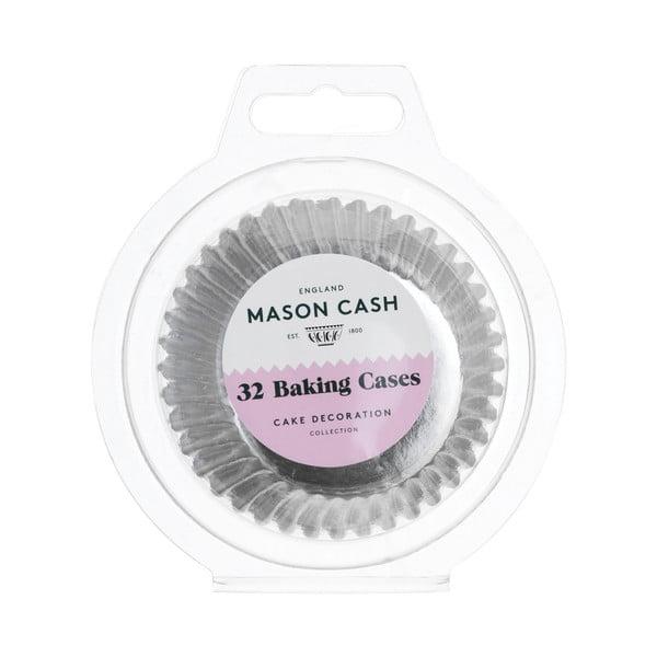 Sada 32 ks papírových košíčků ve stříbrné barvě Mason Cash Baking