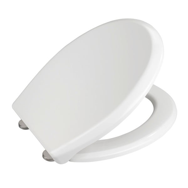 Bílé WC sedátko se snadným zavíráním Wenko Gubbio, 44,5 x 37 cm