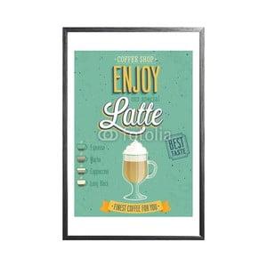 Zarámovaný plakát Vintage Latte, černý rám