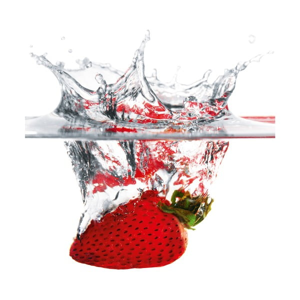 Skleněný obraz Strawberry Splash , 30x30 cm