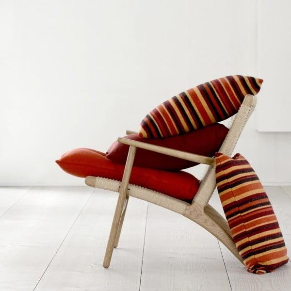 Oranžový polštář Stripes