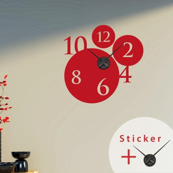 Samolepící hodiny Bubbles and Numbers, 55 cm