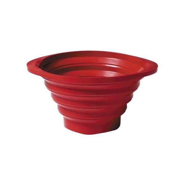 Skládací cedník Strained 23 cm, červený