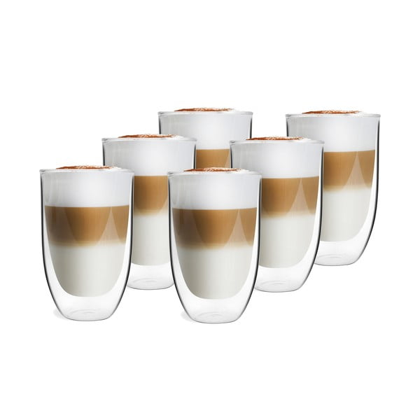 Set 6 pahare cu perete dublu Vialli Design NATALIE, 350 ml