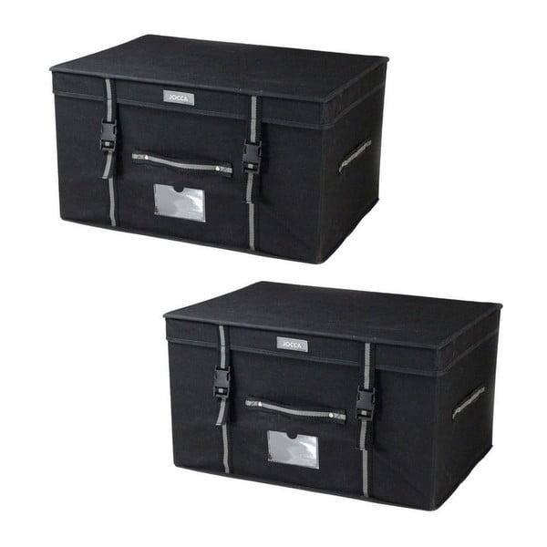 Set 2 úložných boxů Jocca Black