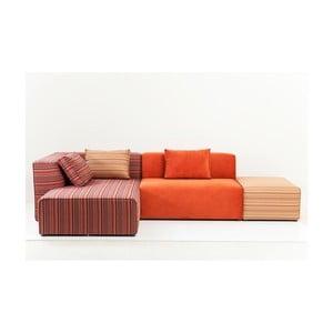 Canapea cu șezlong pe partea stângă Kare Design Infinity Merci