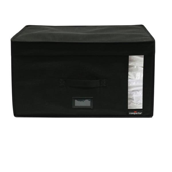 Černý úložný box s vakuovým obalem Compactor Infinity, objem 100 l