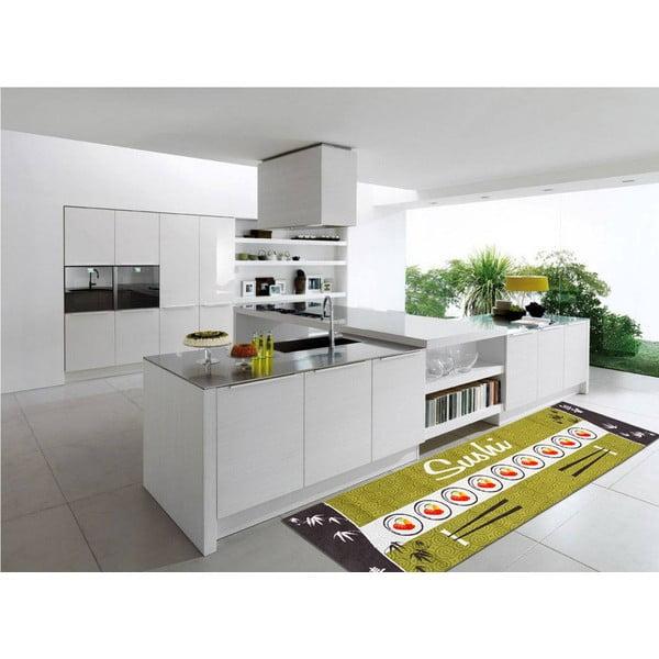 Vysoce odolný kuchyňský koberec Webtappeti Sushi, 60x220 cm