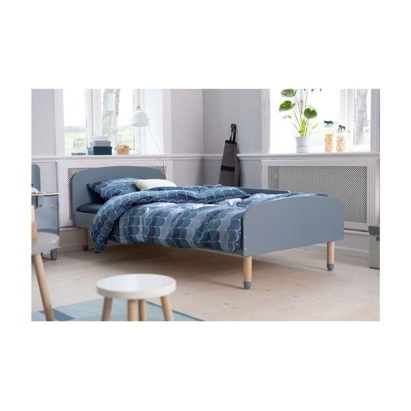 Modrá dětská postel Flexa Play, 90 x 200 cm