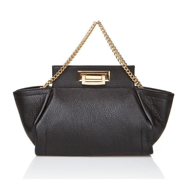 Černá kožená kabelka Massimo Castelli Terre