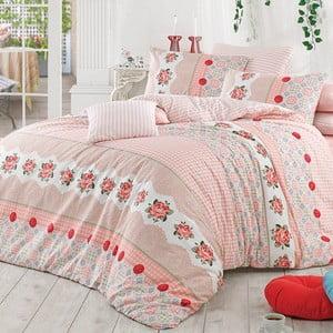 Lenjerie de pat cu cearșaf Button, 200 x 220 cm