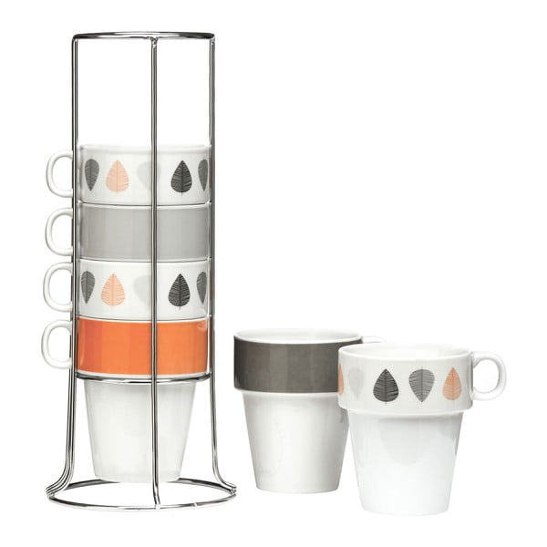 Set 6 căni cu suport Premier Housewares, 300 ml