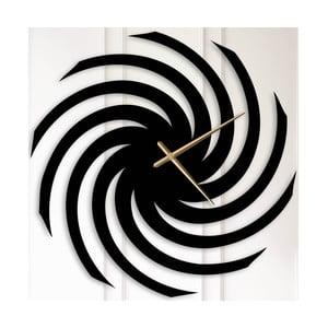 Černé kovové nástěnné hodiny Alma
