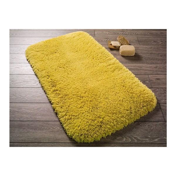 Żółty dywanik łazienkowy Confetti Miami, 57x100 cm