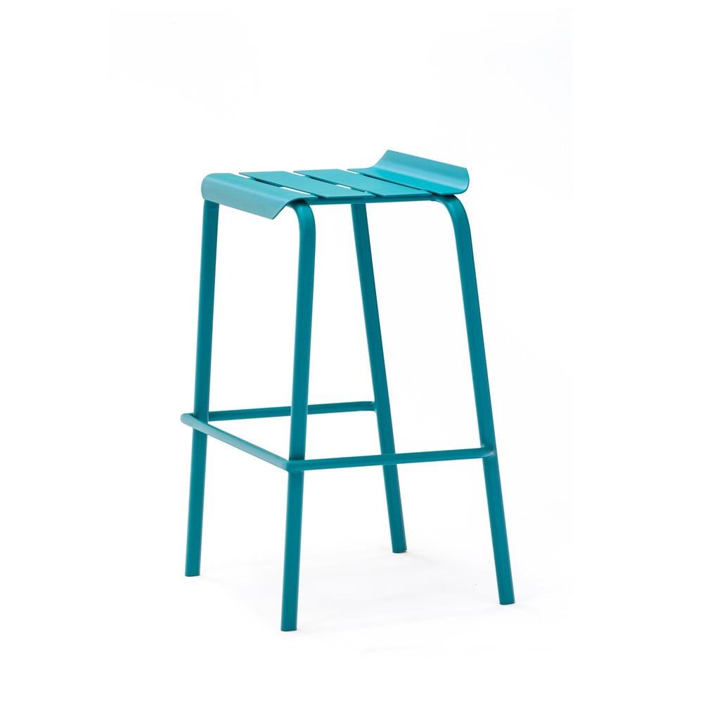 Sada 4 modrých zahradních barových stoliček Ezeis Alicante