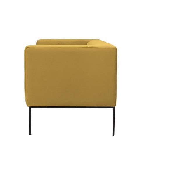 Žlutá trojmístná pohovka Windsor & Co Sofas Neptune