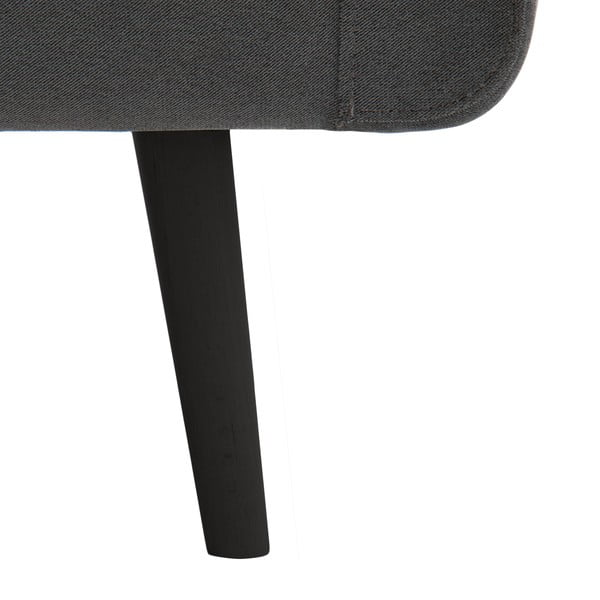 Světle šedá dvoumístná pohovka Vivonita Sondero, černé  nohy