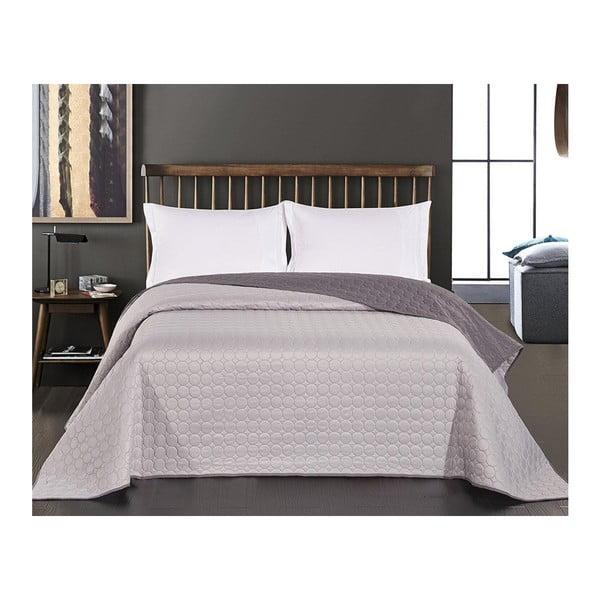 Salise Steel szürke kétoldalas mikroszálas ágytakaró, 170 x 270 cm - DecoKing