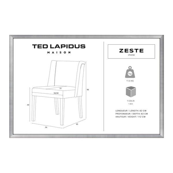 Černá židle s tmavě hnědými nohami z bukového dřeva Ted Lapidus Maison Zeste