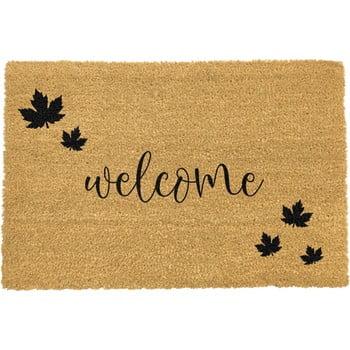 Covoraș intrare din fibre de cocos Artsy Doormats Welcome Autumn, 40 x 60 cm, negru imagine