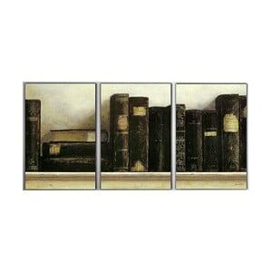 3dílný obraz Old Books, 45x90 cm