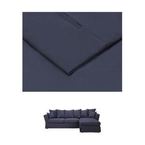 Tmavě modrý povlak na trojmístnou pohovku THE CLASSIC LIVING Helene, pravýroh