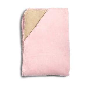 Pătură din bumbac pentru copii YappyKids Sense, 75 x 100 cm, roz