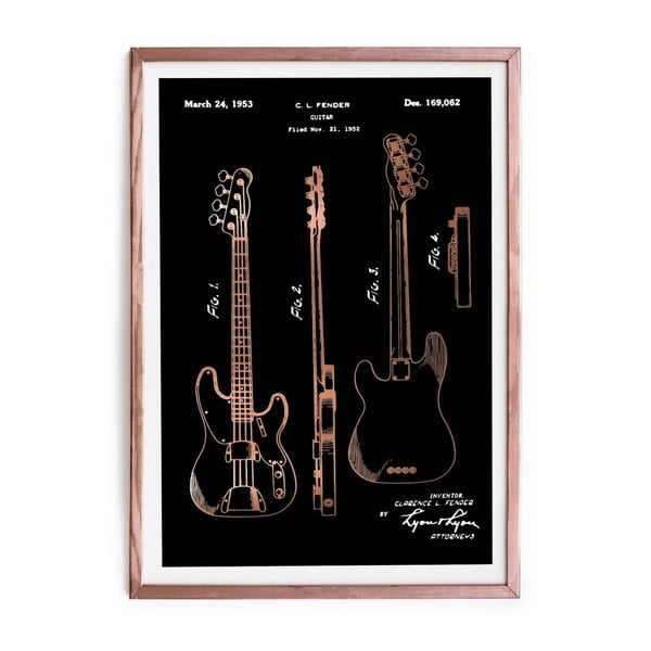 Tablou/poster înrămat Really Nice Things Fender Guitar, 65 x 45 cm