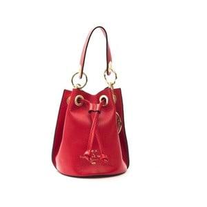 Červená kožená kabelka f.e.v. by Francesca E. Versace Casma