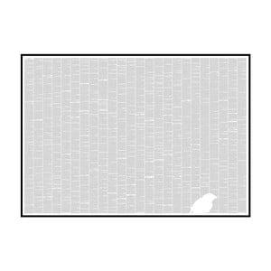 Knižní plakát O původu druhů, 118,9x84,1 cm