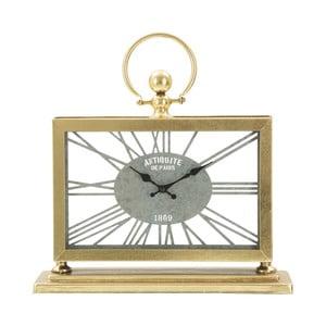 Stolní hodiny ze železa ve zlaté barvě Mauro Ferretti Tavolo