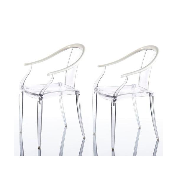 Sada 2 židlí Mi Ming, bílá