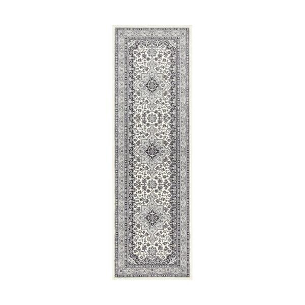 Kremowo-szary chodnik Nouristan Parun Tabriz, 80x250 cm