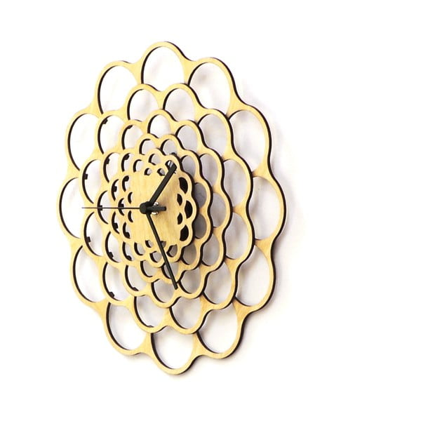 Dřevěné hodiny Coral, 29 cm