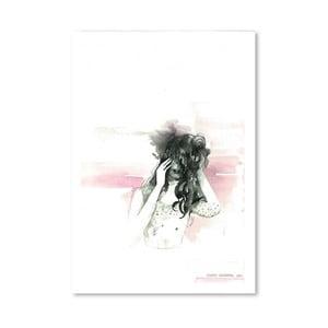 Plakát Pink Face, 30x42 cm