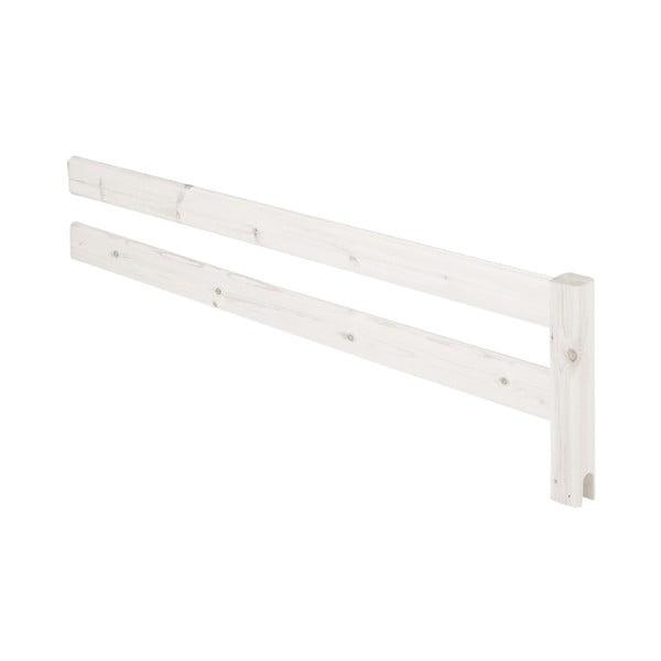 Biała barierka z drewna sosnowego do łóżka Flexa Classic, dł. 157 cm