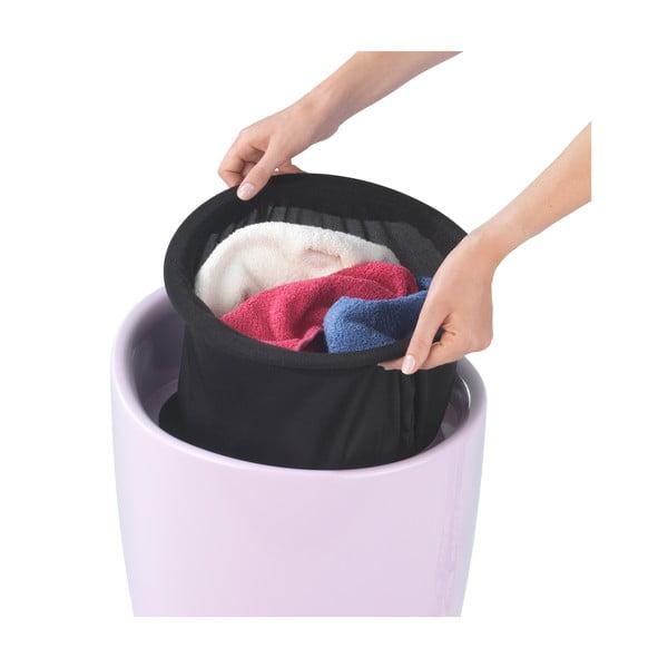 Růžový koš na prádlo a taburetka v jednom Wenko Candy