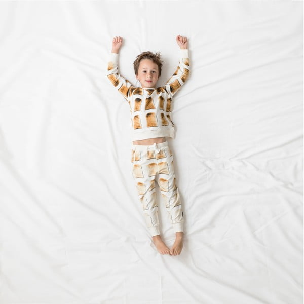 Bílé chlapecké kalhoty Snurk Toast, vel. 128