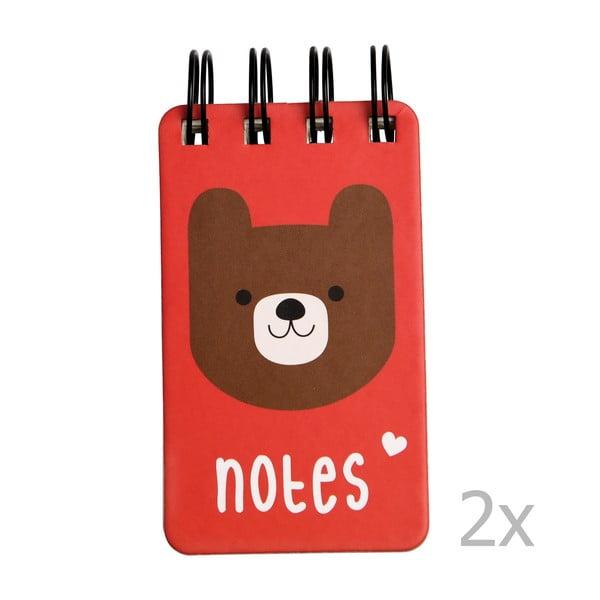 Set 2 caiete notițe cu spirală Rex London Bear