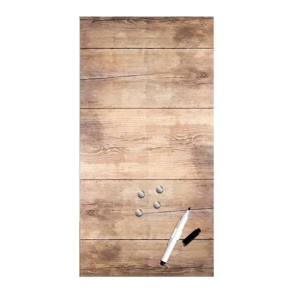 Magnetická tabule Styler Wood, 30 x 60 cm