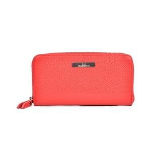 Červená kožená peněženka Mangotti Bags Flora