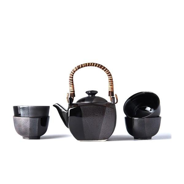 Čierny čajový set Mij Gunmetal