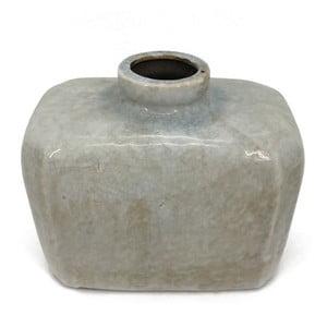 Šedá váza Moycor Lowie, 21x17 cm