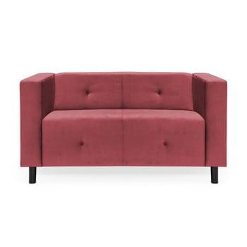 Canapea cu 2 locuri Vivonita Milo, roz închis de la Vivonita