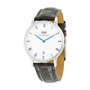 Dámské hodinky s černým páskem Daniel Wellington York Silver, ⌀38mm