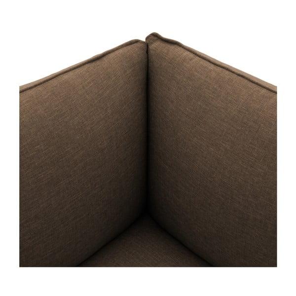 Tmavě béžová dvoumístná pohovka s podnožkou Vivonita Cube