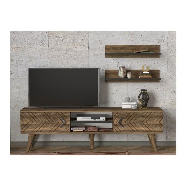 Set comodă TV și 2 rafturi Legato