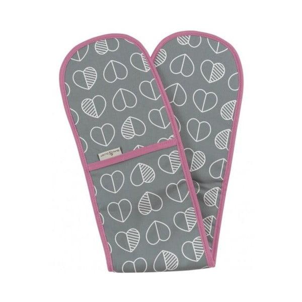 Dvojitá kuchyňská rukavice Confetti Slate