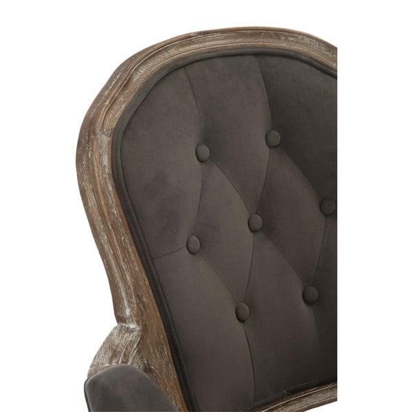 Šedohnědá dubová židle s područkami Louisa